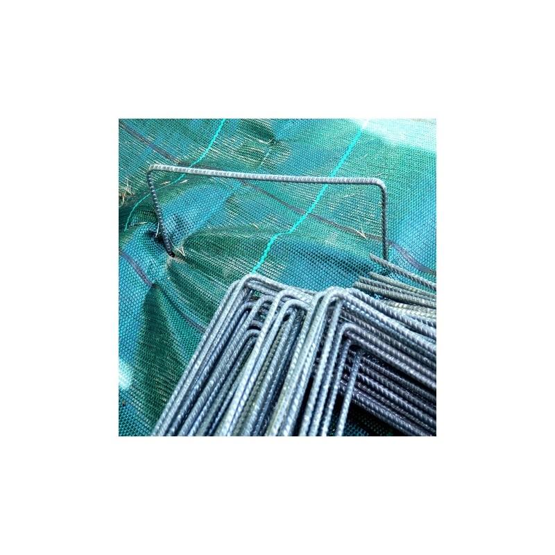 agrafes pour toiles de paillage g otextiles pointe biseaut e. Black Bedroom Furniture Sets. Home Design Ideas