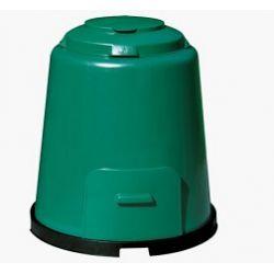 Composteur 280 Litres à fond perforé garantissant une bonne aération. Couvercle réglable, position Été-Hiver