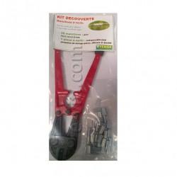Kit découverte Petite Pince à sertir + 50 manchons pour fils de 1,6 à 2,5mm