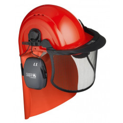 Kit Forestier Casque Ventilé - Ecran Grillagé - Casque anti-bruit L1H - Protection nuque