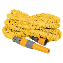 Tuyau extensible Superhoze 15 m + 2 raccords Aquastop + 1 lance d'arrosage