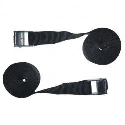 Pack de 2 Sangles 25mm x 2,5m avec boucles Zamak haute résistance