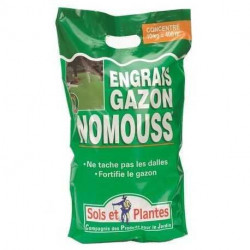 Engrais gazon NoMouss Sols et Plantes, sac 10 kg