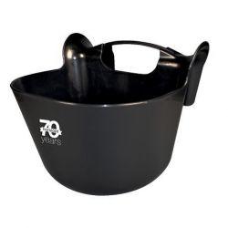 Mangeoire portative Tran&Comp 13,5 litres horizont, noire