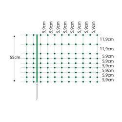 Filet lapins horizont, hauteur 65 cm, longueur 50 m