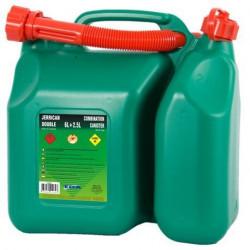 Jerrican double compartiment homologué hydrocarbures avec bec verseur EDA Plastiques