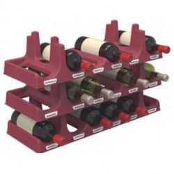 Lot 3 modules 6 bouteilles EDA Plastiques